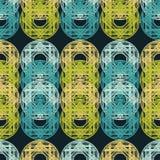 Modelo inconsútil del lunar halftone Fondo geométrico Textura del garabato Imagen de archivo libre de regalías