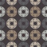 Modelo inconsútil del lunar halftone Fondo geométrico Textura del garabato Fotos de archivo libres de regalías