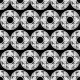 Modelo inconsútil del lunar halftone Fondo geométrico Textura del garabato Foto de archivo