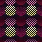 Modelo inconsútil del lunar La textura de los puntos halftone Fondo geométrico Textura del garabato Imagen de archivo