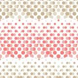 Modelo inconsútil del lunar La textura de los puntos halftone Fondo geométrico Textura del garabato Fotos de archivo libres de regalías