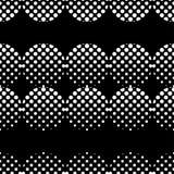 Modelo inconsútil del lunar La textura de los puntos halftone Fondo geométrico Textura del garabato Foto de archivo