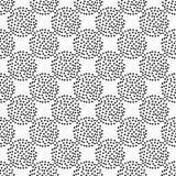 Modelo inconsútil del lunar Trama manual Fondo geométrico Textura del garabato Imagen de archivo libre de regalías