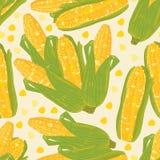 Modelo inconsútil del maíz ilustración del vector