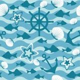 Modelo inconsútil del mar Imagen de archivo libre de regalías