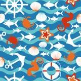 Modelo inconsútil del mar Imágenes de archivo libres de regalías