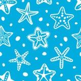 Modelo inconsútil del mar del vector con las estrellas de mar libre illustration