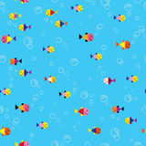 Modelo inconsútil del mar subacuático de los pescados libre illustration