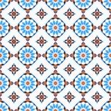 Modelo inconsútil del mosaico de Morrocan fotos de archivo libres de regalías
