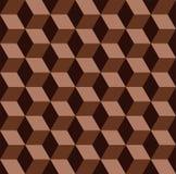 Modelo inconsútil del mosaico del chocolate stock de ilustración