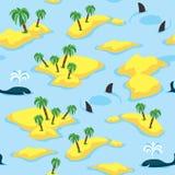 Modelo inconsútil del océano y de las islas fotos de archivo