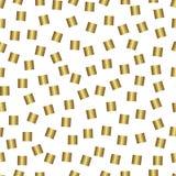 Modelo inconsútil del oro, fondo de oro del estilo Imágenes de archivo libres de regalías