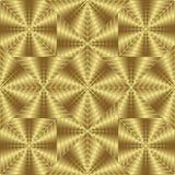 Modelo inconsútil del oro, fondo de oro del estilo Imagenes de archivo