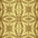 Modelo inconsútil del oro, fondo de oro del estilo Fotografía de archivo