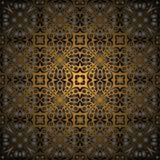 Modelo inconsútil del oro negro magnífico Imagenes de archivo