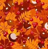 Modelo inconsútil del otoño. ilustración del vector