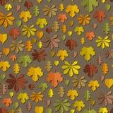 Modelo inconsútil del otoño Imagenes de archivo