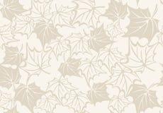 Modelo inconsútil del otoño con las hojas del arce Foto de archivo libre de regalías