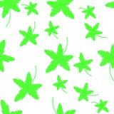 Modelo inconsútil del otoño con las hojas Postal con las impresiones de las hojas Hojas de árboles stock de ilustración