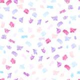 Modelo inconsútil del otoño de la primavera con la flor violeta, azul, rosada colorida de la hortensia en el fondo blanco stock de ilustración