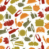 Modelo inconsútil del otoño del color de la acción de gracias Imagen de archivo libre de regalías