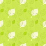 Modelo inconsútil del otoño, hoja verde abstracta Imagenes de archivo