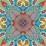 Modelo inconsútil del pañuelo de la India Paisley, materia textil decorativa, envolviendo, decoración Diseño bohemio Foto de archivo