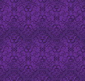 Modelo inconsútil del papel pintado en cortinas de la púrpura Foto de archivo libre de regalías
