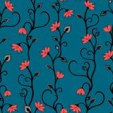 Modelo inconsútil del papel pintado floral Imagen de archivo libre de regalías