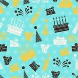 Modelo inconsútil del partido del feliz cumpleaños Imágenes de archivo libres de regalías