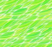 Modelo inconsútil del pelo del garabato de la hierba verde Imagen de archivo libre de regalías