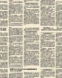 Modelo inconsútil del periódico viejo Fondo del vector del vintage nuevo Fotografía de archivo