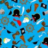 Modelo inconsútil del pirata ornamento accesorio pirático buccaneer libre illustration