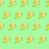 Modelo inconsútil del plátano Fotografía de archivo