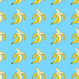 Modelo inconsútil del plátano Fotos de archivo
