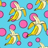 Modelo inconsútil del plátano Imagenes de archivo
