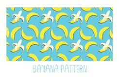 Modelo inconsútil del plátano Foto de archivo libre de regalías