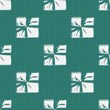 Modelo inconsútil del presente de la caja de regalo de la Navidad Fotografía de archivo libre de regalías