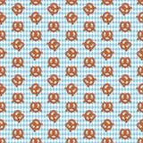 Modelo inconsútil del pretzel y de los diamantes ilustración del vector