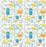 Modelo inconsútil del producto lácteo Estilo plano Fondo de los productos lácteos y textura del queso Contexto sin fin de las com Imágenes de archivo libres de regalías