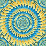 Modelo inconsútil del rayo amarillo azul del fuego ilustración del vector