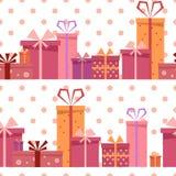 Modelo inconsútil del regalo Imagen de archivo libre de regalías