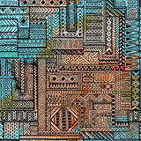 Modelo inconsútil del remiendo Textura de la acuarela del Grunge Naranja stock de ilustración