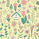 Modelo inconsútil del resorte floral Imagen de archivo libre de regalías
