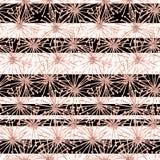 Modelo inconsútil del spiderweb del aguazo de las flores surrealistas beige stock de ilustración