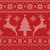 Modelo inconsútil del suéter feo de la Navidad ilustración del vector