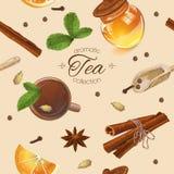 Modelo inconsútil del té de la especia libre illustration