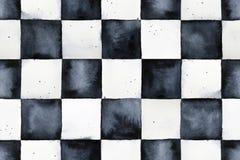 Modelo inconsútil del tablero de ajedrez de la acuarela libre illustration