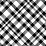 Modelo inconsútil del tartán en blanco y negro Textura para la tela escocesa, manteles, ropa, camisas, vestidos, papel, lecho, ma stock de ilustración