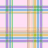 Modelo inconsútil del tartán en ejemplos rosados del fondo Imagenes de archivo